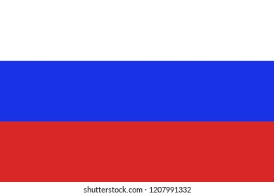 Accurate russia flag  for backround or icon