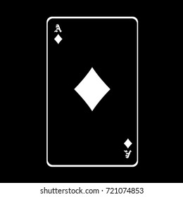 Ace of diamonds black and white