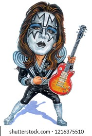 Ace Frehley is the Kiss band member Caricature created, October 10,2018