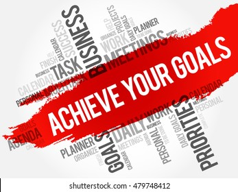 Achieve Your Goals word cloud business concept