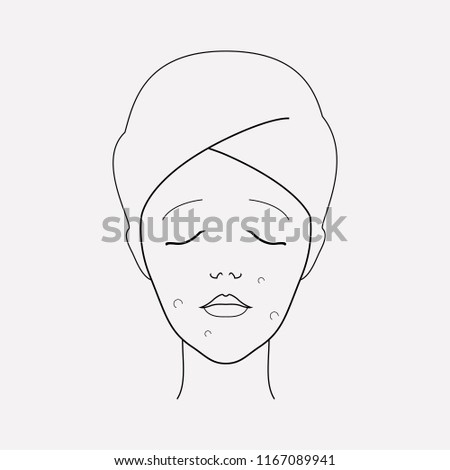 Royalty Free Stock Illustration Of Acne Icon Line Element