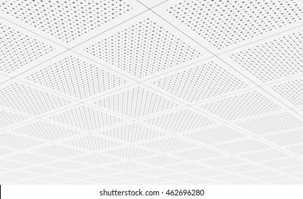 Acoustic ceiling tiles. 3D rendering