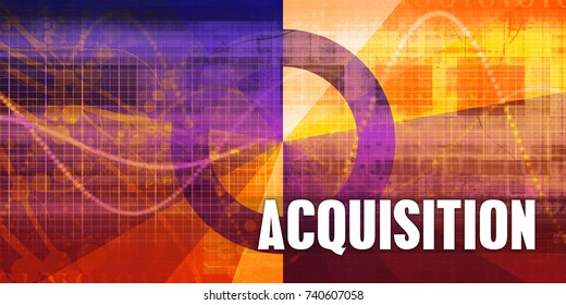 Acquisition Focus Concept on a Futuristic Abstract Background