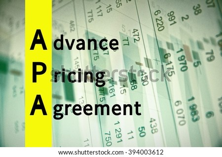 Royalty Free Stock Illustration Of Acronym Apa Advance Pricing