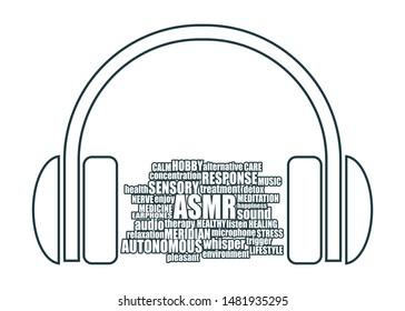 Acronym ASMR - Autonomous Sensory Meridian Response. Health care conceptual image. Words cloud
