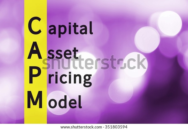 Acronym Capm Capital Asset Pricing Model Stock Illustration