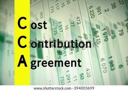Acronym Cca Cost Contribution Agreement Stock Illustration 394003699