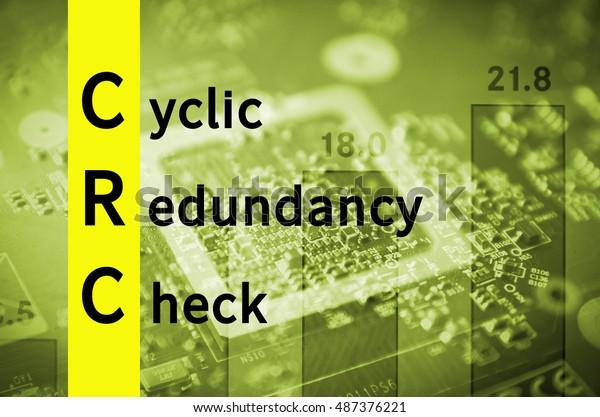 Acronym Crc Cyclic Redundancy Check Stock Illustration 487376221