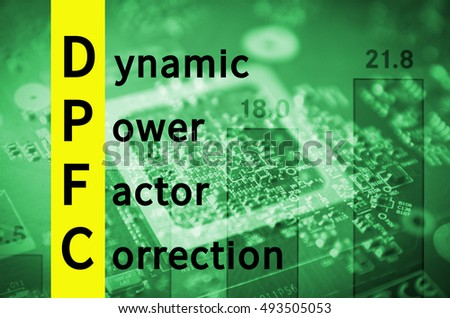 Acronym Dpfc Dynamic Power Factor Correction Stock Illustration