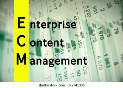 Acronym ECM as Enterprise Content Management