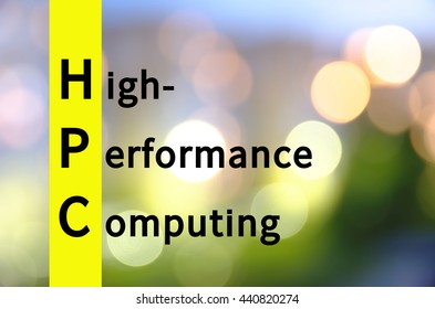 Acronym HPC as High-performance computing