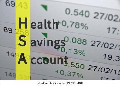 Acronym HSA as Health savings account