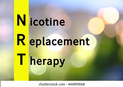 Acronym NRT as Nicotine replacement therapy