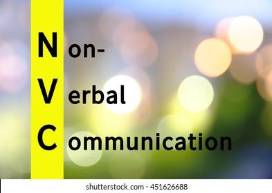 Acronym NVC as Non-verbal communication