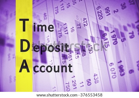 Acronym TDA Time Deposit Account Stock Illustration