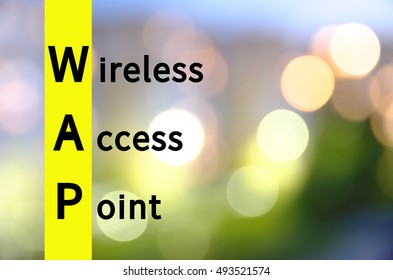 Acronym WAP as Wireless access point