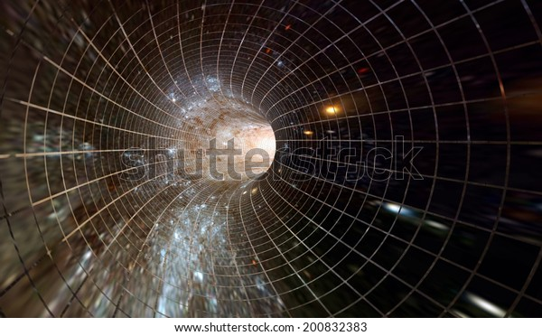 Across the universe. Traveling in space. Time travel. Elements of this image furnished by NASA.