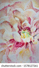 "Acrylic painting for digital printing ""Bright Peony"""