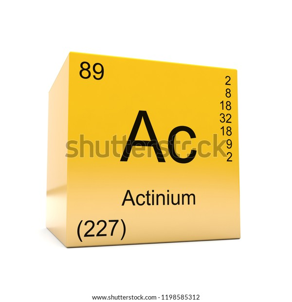 Actinium Chemical Element Symbol Periodic Table Stock