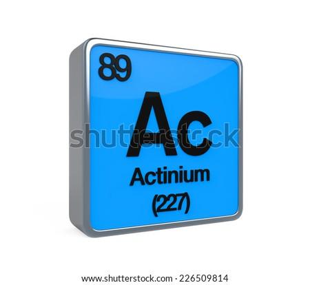 Actinium Element Periodic Table Stock Illustration 226509814