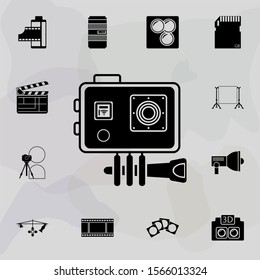 action camera icon. Universal set of equipment photography for website design and development, app development