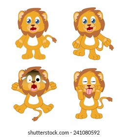 Action and expression of Lion