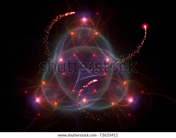 Active dynamic vibrant forms on the subject of motion, speed, particle physics, science and modern technologies