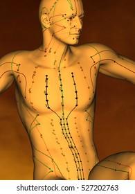 Acupuncture model M-POSE G-18-4.jpg , 3D Model