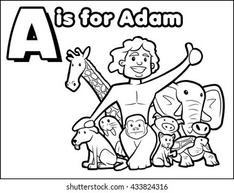 A is for Adam Coloring Activity