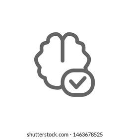 Add brain icon. Element of simple icon