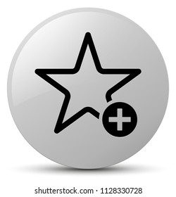 Add to favorite icon isolated on white round button abstract illustration