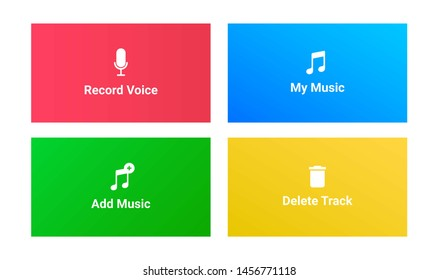 add music apps and web illustration