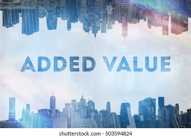 Added value concept image