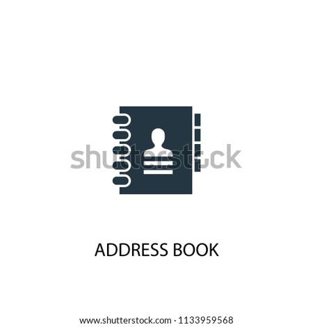 address book creative icon simple element stock illustration