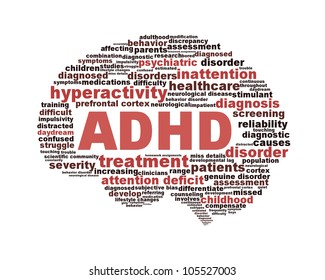 ADHD symbol design isolated on white background. Attention deficit hyperactivity disorder symbol conceptual design