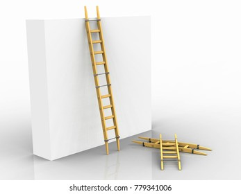 Adjustable ladder, Leonardo da Vinci, Codex Atlanticus 0007r. 3D model.