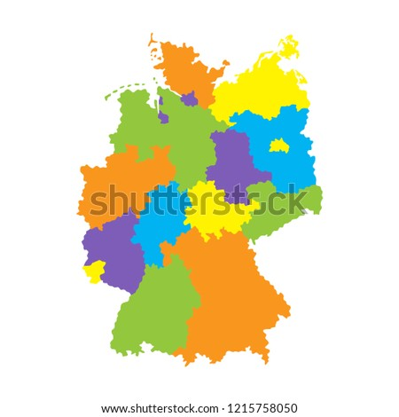 Map Of Germany With Regions.Royalty Free Stock Illustration Of Administrative Map Germany