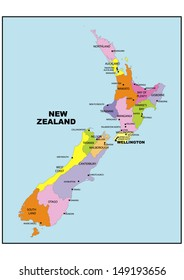 Administrative map of New Zealand