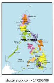 Administrative map of Philippines