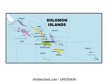Solomon Islands Map Images, Stock Photos & Vectors