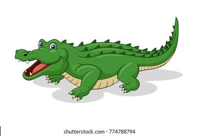 Adorable Crocodile Cartoon