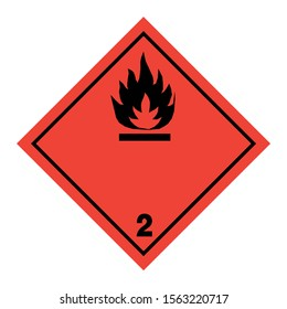 ADR pictogram for flammable gases