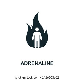 Adrenaline icon illustration. Creative sign from mindfulness icons collection. Filled flat Adrenaline icon for computer and mobile. Symbol, logo graphics.