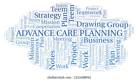 Advance Care Planning word cloud.