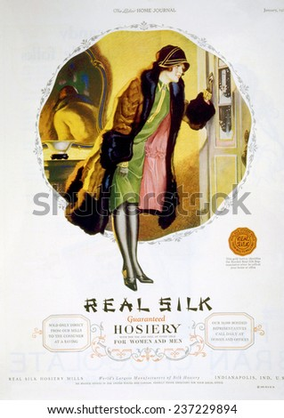 a4f9623d5 Advertisement Real Silk Brand Hosiery Women Stock Illustration ...