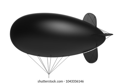 Advertising blank blimp airship,inflatable helium balloon,inflatable zeppelin. 3d render illustration.