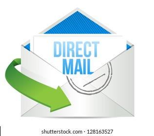 advertising Direct Mail working concept illustration design over a white background