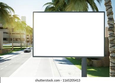 advertising mockup 3d rendering