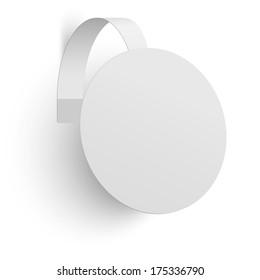 Advertising wobbler isolated on white background. Raster version illustration.