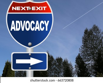 Advocacy road sign